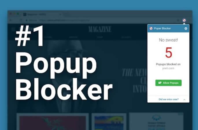 poper blocker - estensione gratuita per chrome
