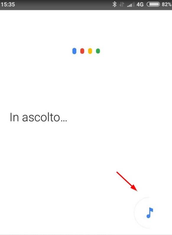 riconoscimento canzoni con google now