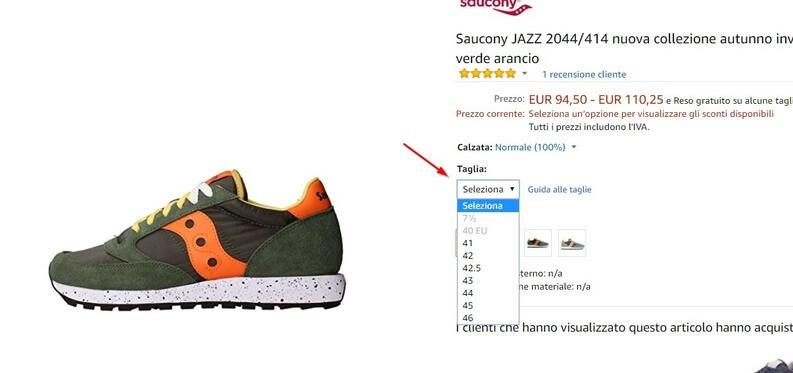 come comprare scarpe su amazon