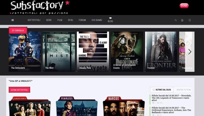 subsfactory serie e film