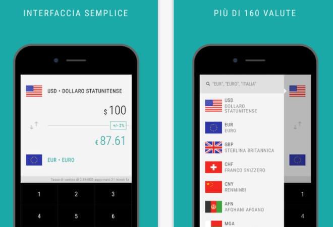Applicazione Valuta - Convertitore valute