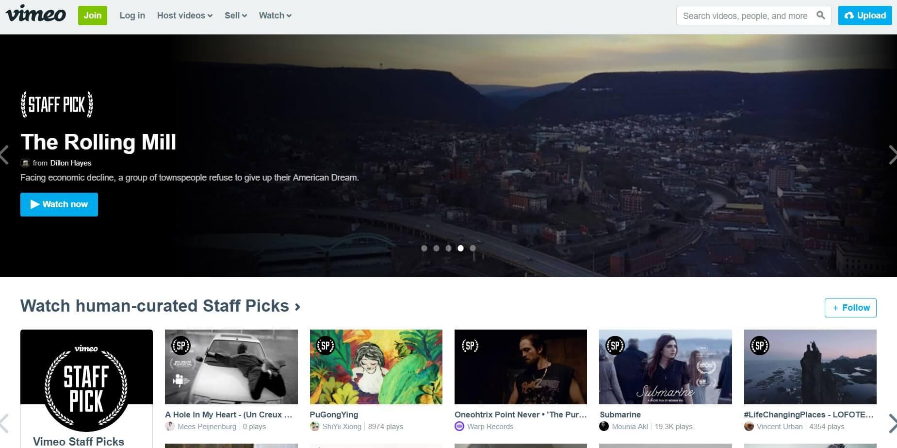 vimeo piattaforma video