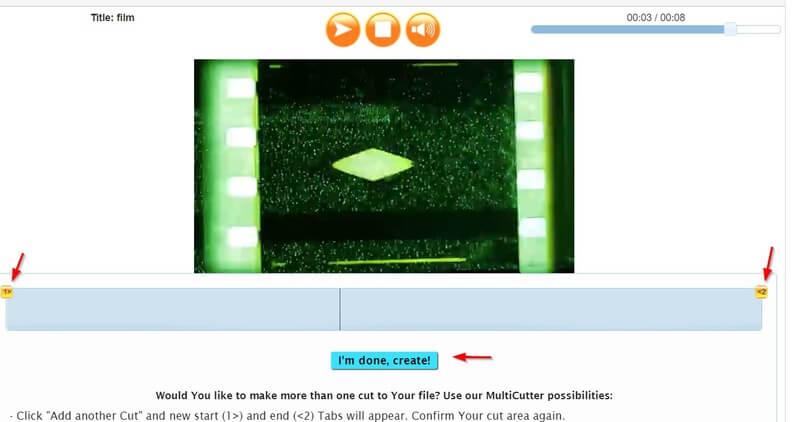 wincreator taglia video