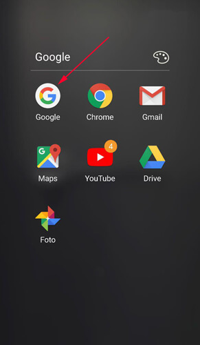 aprire app google