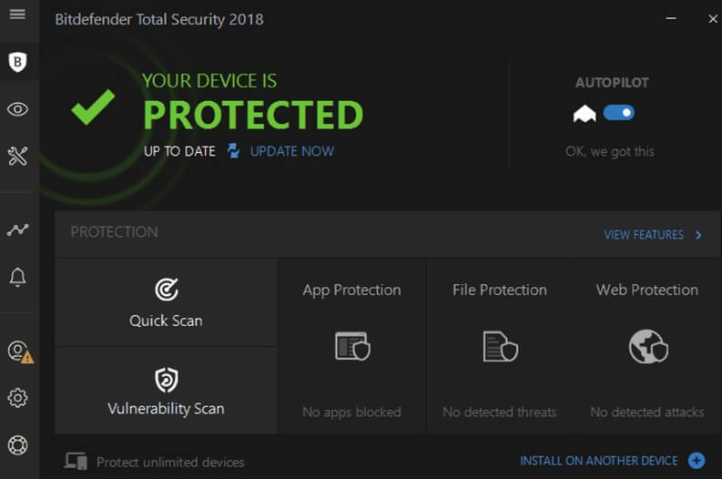 bitdefender internet security 2018 risultato