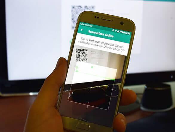 inquadratura del codice qr da whatsapp web