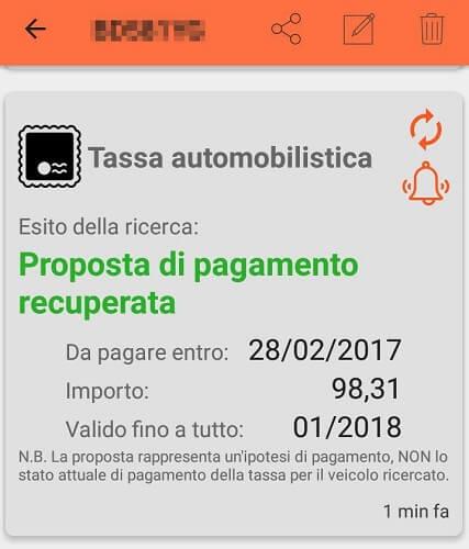 verificare bollo auto android 2