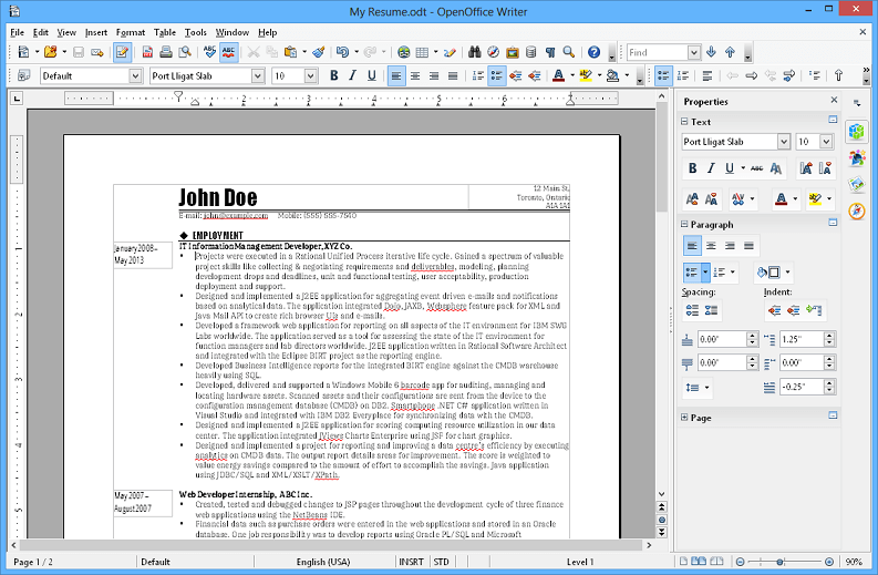 APACHE OPENOFFICE WRITER (Windows, Mac, Linux)