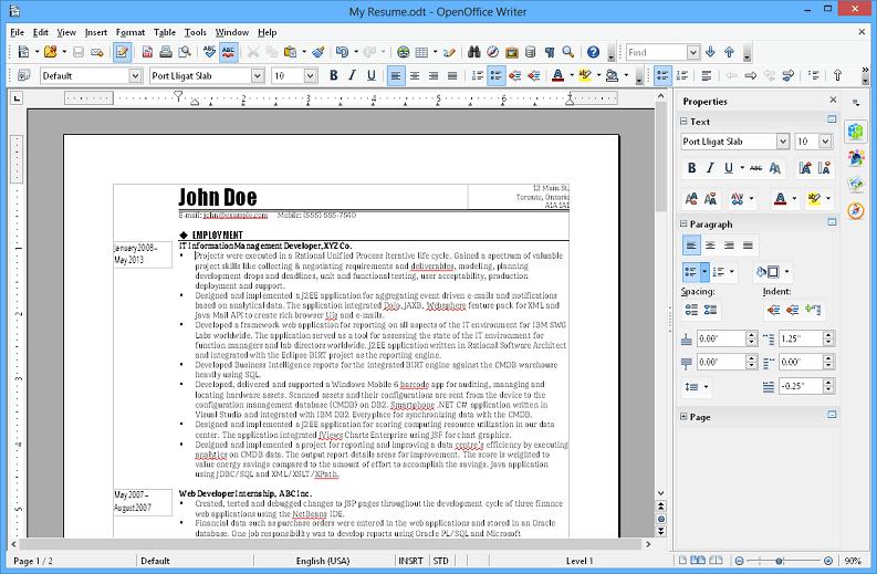 APACHE OPENOFFICE WRITER(Windows, Mac, Linux)