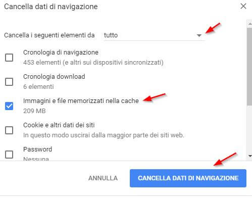 velocizzare Google Chrome