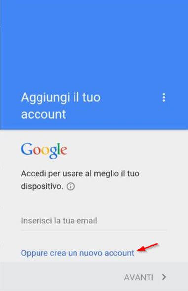 gmail nuovo account