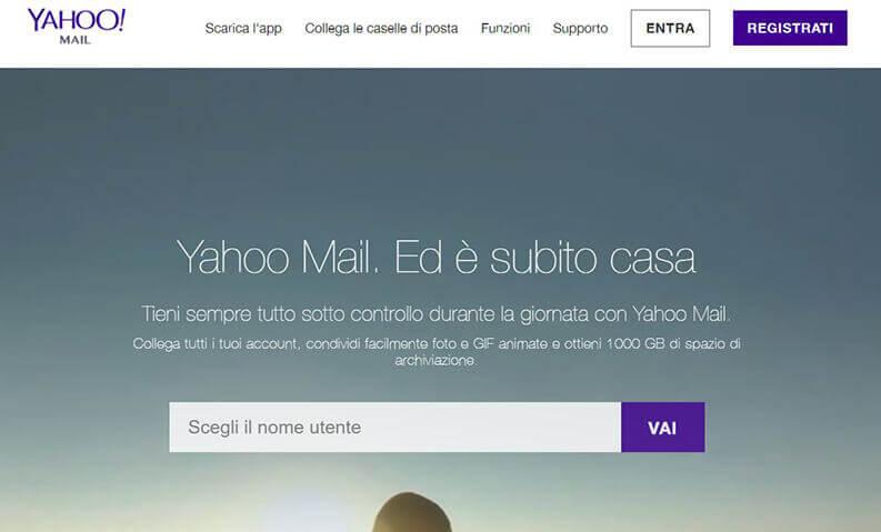 creare indirizzo email con yahoo