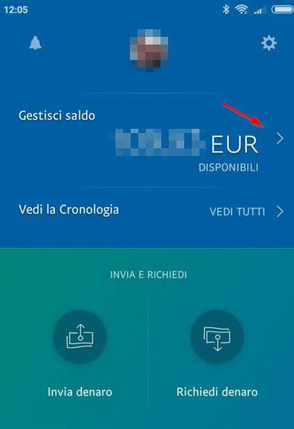 trasferire soldi da Paypal a Postepay