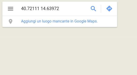 Google maps latitudine e longitudine