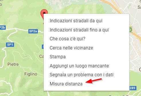 misurare distanza google maps