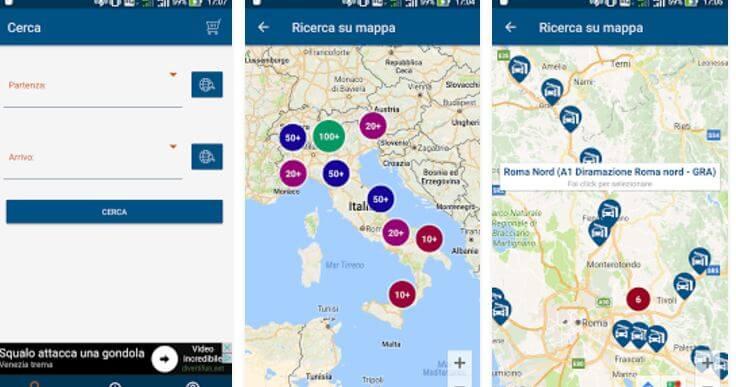 Applicazione Pedaggio Autostradale Android