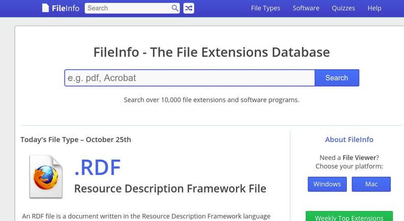 identificare estensione file con FileInfo