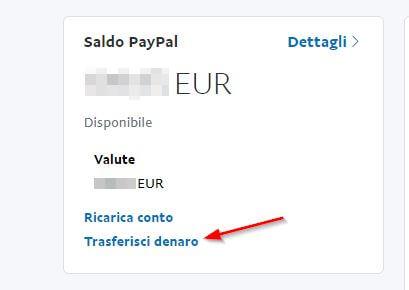 trasferire denaro da Paypal a Postepay