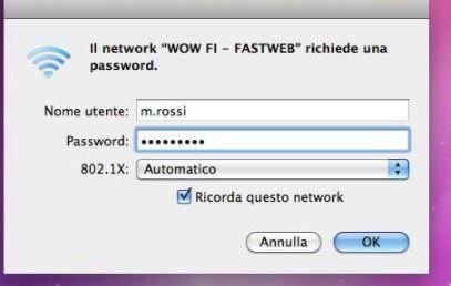 usare wow fi su macOS