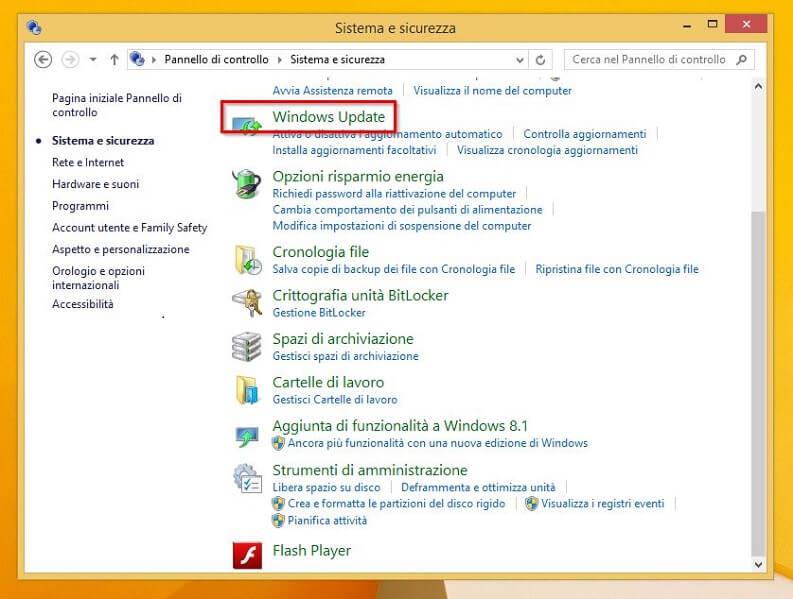 gli aggiornamenti di windows