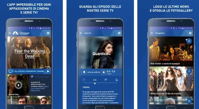 app Paramount Channel Italia