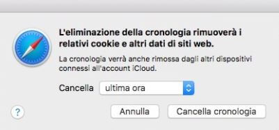 come cancellare la cronologia di google con safari
