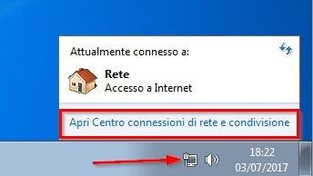 indirizzo ip privato windows 7