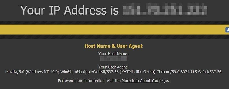indirizzo ip pubblico