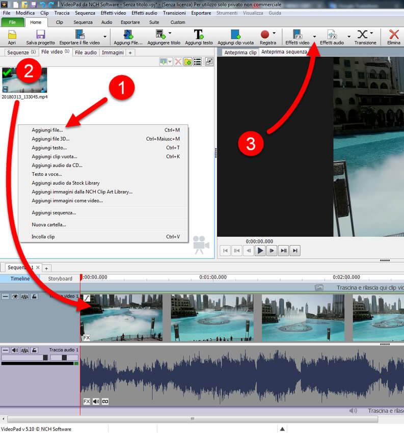 modificare video con videopad