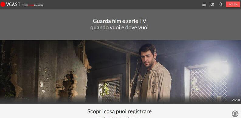 registrare la tv con vcast