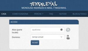 Email Temporenea con tempr email