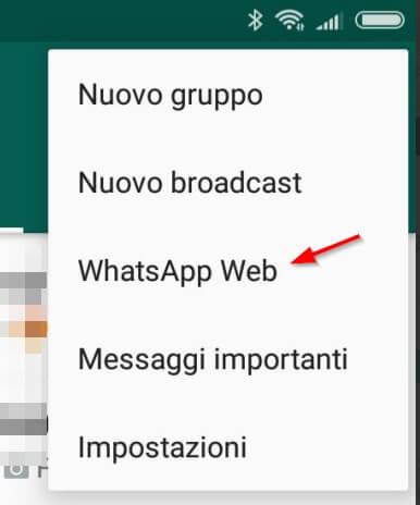 Accesso whatsapp web