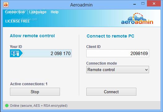 Aeroadmin per controllo remoto
