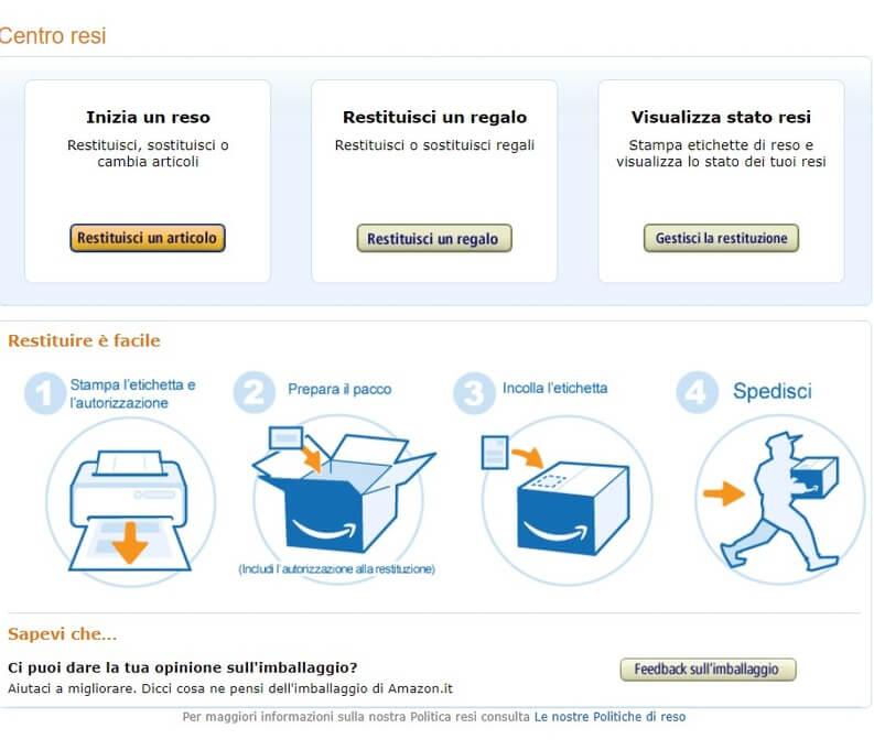 Amazon.it - Centro resi