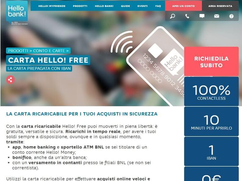 conto hello bank