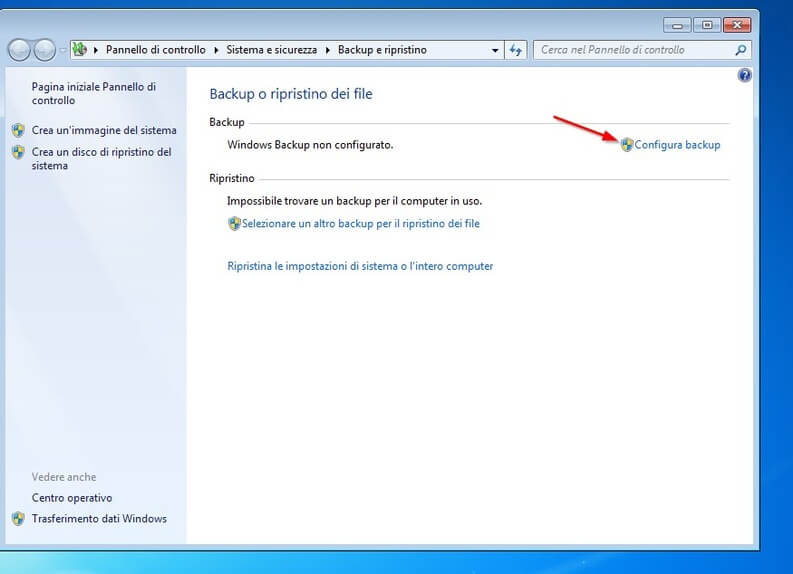 il backup di windows 7 parte 2