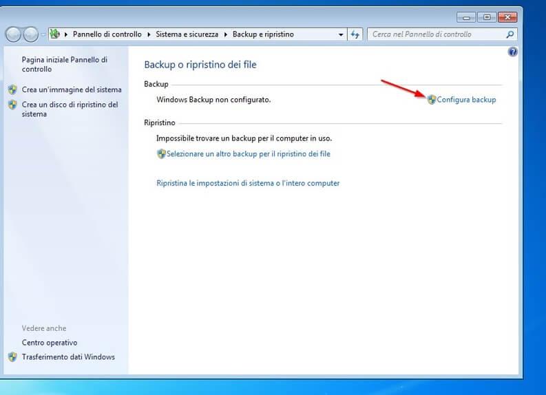il backup di windows 7 parte 2