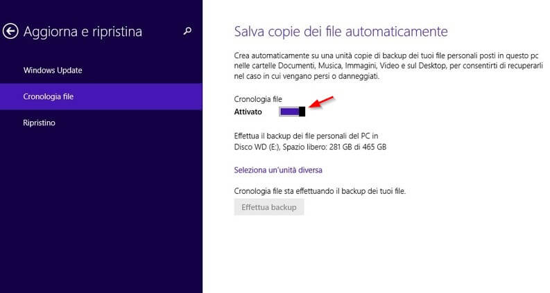 cronologia file windows 8.1