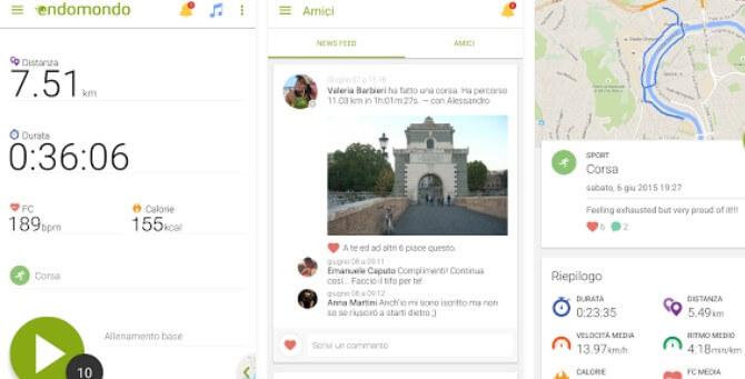 Endomondo app per bicicletta