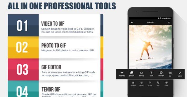 creare gif con GIF Editor