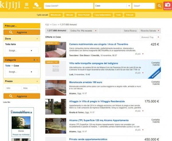 kijiji siti per cercare casa da privati