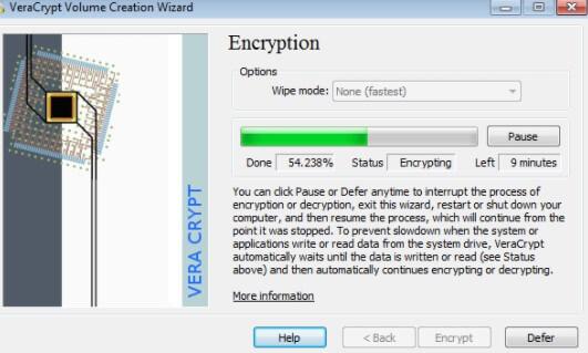 Criptare le cartelle Veracrypt