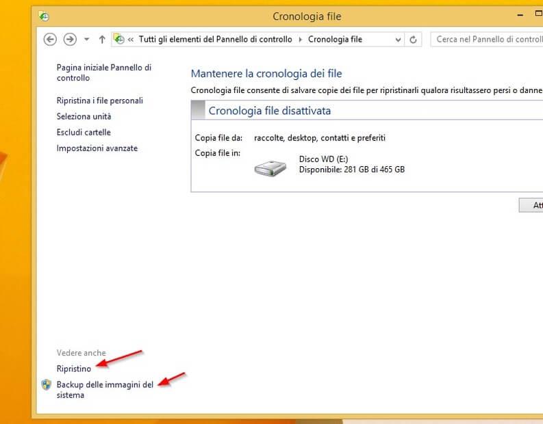 immagine di sistema di windows 8.1