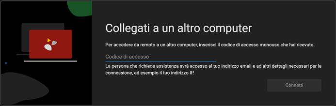 Accedi Con Il Codice A Desktop Remoto