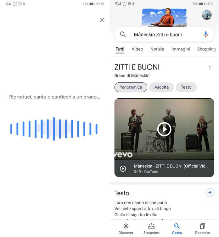 Riconoscere Brani Con Assistente Google