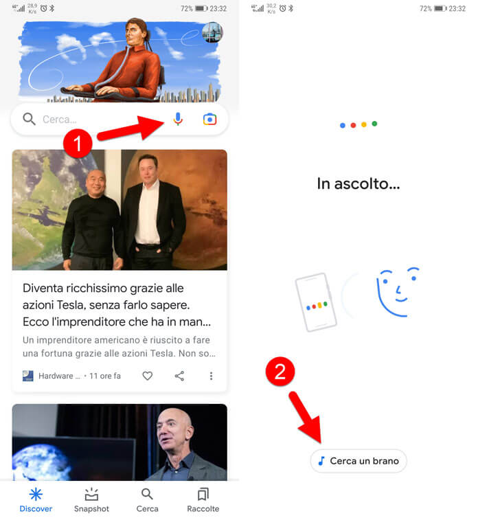 Riconoscere Canzoni Con Assistente Google
