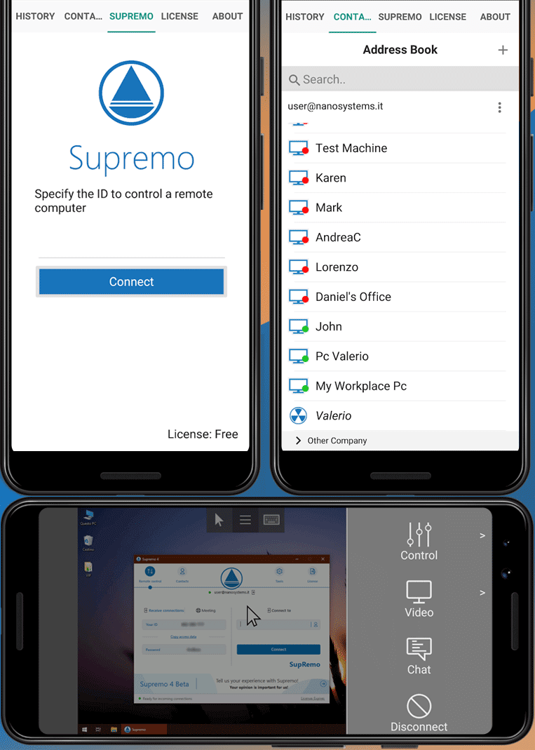 supremo android hires