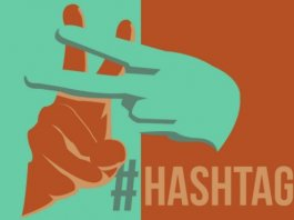 usare hashtag