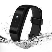 Lenovo HW01 Pedometro, Pulsossimetro, Monitoraggio Attività Monitor, Fitness e Esercizio, Bluetooth, orologio, Allarme, Ricaricabile, Schermo LCD, Regolabile, Android, iOS iPhone (black)