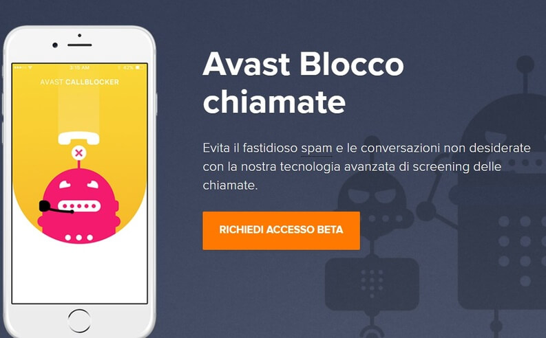 Avast blocco chiamate su iOS